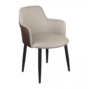 Стол SOUL ц метални крака цвят капучино ΕΜ713,32