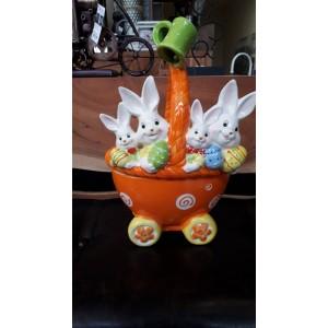 Великденска количка зайци