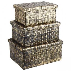 Кутия златна голяма