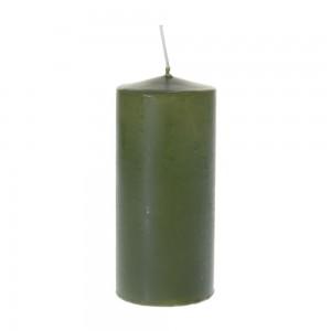 Свещ 7х16см тъмно зелена