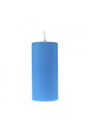 Свещ 7х16см светло синя