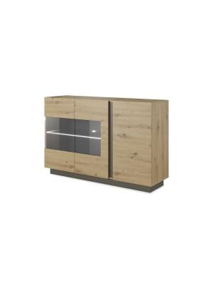 Шкаф Arco pakoworld цвят сонома-тъмно сив 138x40x90,5cm